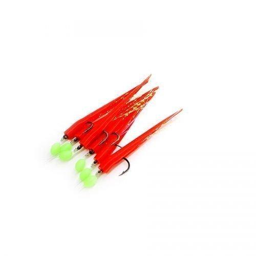 Sabiki de plumipepon en color rojo